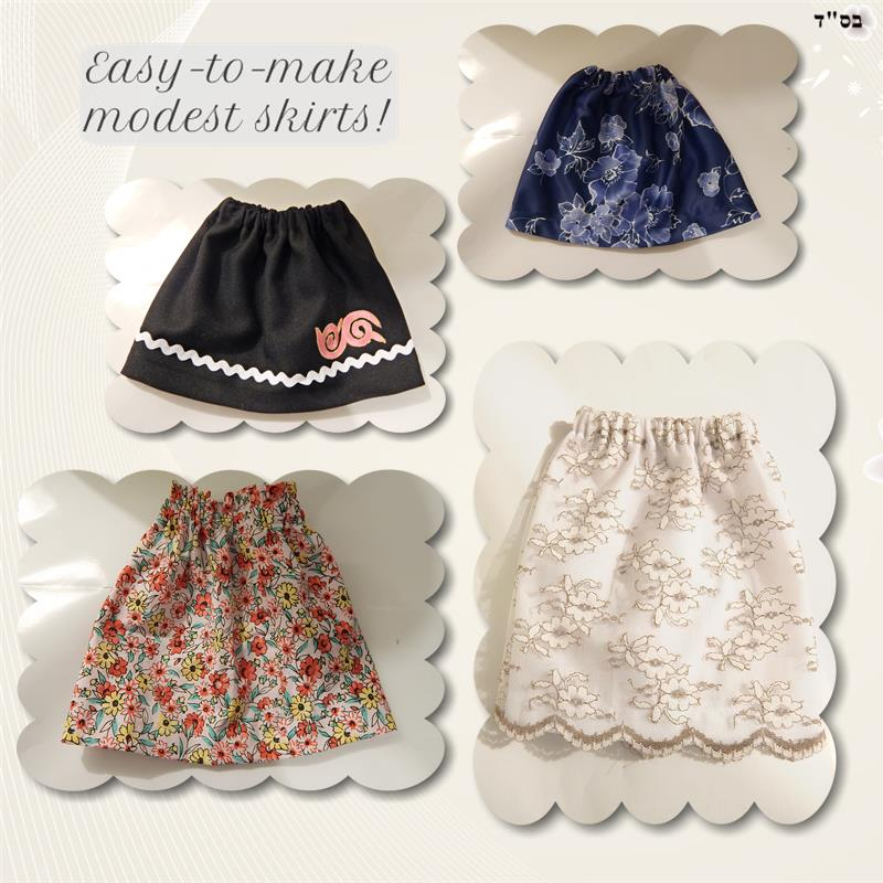 Easy Modest Skirt Pattern | Copyright Mrs Moriya Chesler