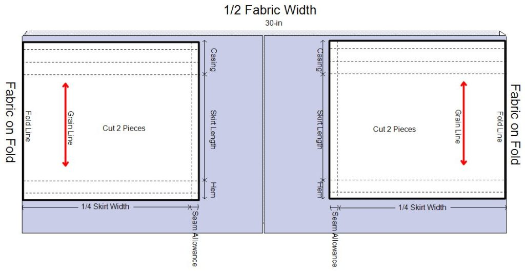 Fabric Layout 60-in Wide | Copyright Mrs Moriya C.